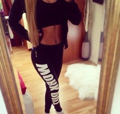 Work Out Leggings Stretch Pants Sports Gym Yoga Training Running Womens Ladies